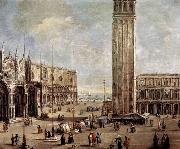 Antonio Stom View of the Piazza San Marco from the Procuratie Vecchie oil painting