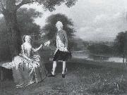 Gentleman and Lady in a Landscape