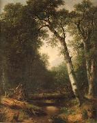 Asher Brown Durand Ein Bach im  Wald oil painting artist