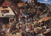 BRUEGHEL, Pieter the Younger Netherlandish Proverbs oil painting reproduction