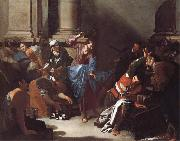 Bernardo Cavallino Christ Driving the Traders from the Temple oil painting