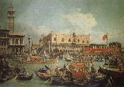 Canaletto The Bucintoro in Front of the Doges- Palace on Ascension Day