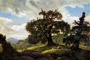 Carl Gustav Carus Oaks at the Sea Shore oil painting reproduction