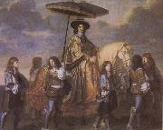 Charles le Brun Chancellor Seguier at the Entry of Louis XIV into Paris in 1660 oil painting