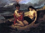 Delacroix Auguste The Natchez oil painting