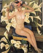 Nude and flower