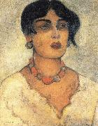 Diego Rivera Portrait of a girl oil painting reproduction
