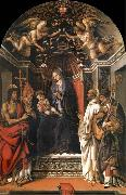 The Madonna and the Nno enthroned with the holy juan the Baptist, Victor Bernardo and Zenobio