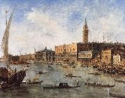 Francesco Guardi The Doge-s Palace and the Molo from the Basin of San Marco