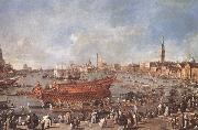 Departure of Bucentaure towards the Lido of Venice on Ascension Day