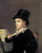 Portrait of Mariano Goya, the Artist-s Grandson