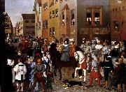 Franz Pforr The Entry of Emperor Rudolf of Habsburg into Basle oil painting