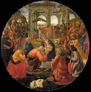 GHIRLANDAIO, Domenico Adoration of the Magi oil painting reproduction