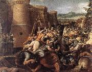 GIuseppe Cesari Called Cavaliere arpino St Clare with the Scene of the Siege of Assisi oil painting