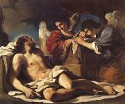 GUERCINO The Dead Christ Mourned by two Angels oil painting reproduction