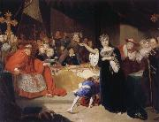 George Henry Harlow The Court for the Trial of Queen Katharine oil painting