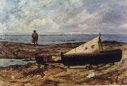 Giovanni Fattori On the Beach oil painting