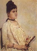 Giovanni Fattori Portrait of the Stepdaughter oil painting