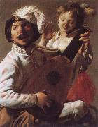 Hendrick Terbrugghen Duet oil painting reproduction