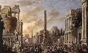 Jacob van der Ulft Antique Forum with a Triumphal Procession oil painting