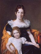 Jacques-Louis David Portrait of the Vicomtesse Vilain XIV and her Daughter