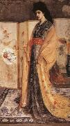 Whistler-s passion for all things oriental is presented here in his the princess from the Land of Porcelain