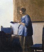 JanVermeer Woman Reading a Letter oil painting reproduction