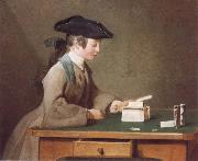 Jean Baptiste Simeon Chardin The House of Cards