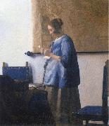 Johannes Vermeer Woman Reading a Letter oil painting reproduction