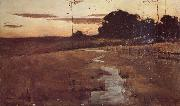 John Longstaff Twilight Landscape oil painting