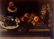 Juan de  Espinosa Still-Life of Fruit and a Plate of Olives oil painting artist