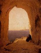 Karl Blechen Grotto in the Gulf of Naples oil painting