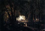 Karl Blechen The Woods near Spandau oil painting reproduction