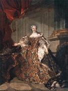 Louis Tocque Marie Leczinska, Queen of France oil painting reproduction