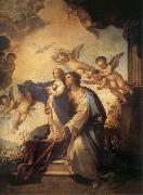 Luca Giordano Holy Ana and the nina Maria Second mitade of the 17th century oil painting reproduction