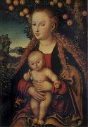 THe Virgin and Child under the Apple-tree