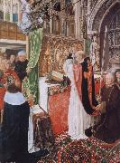 MASTER of Saint Gilles The Mass of Saint Giles oil painting
