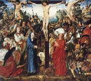 MASTER of the Aix-en-Chapel Altarpiece The crucifixion oil painting