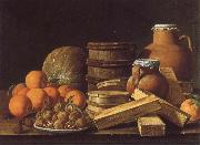 MELeNDEZ, Luis Still life with Oranges and Walnuts