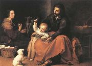 MURILLO, Bartolome Esteban The Holy Family with a Bird