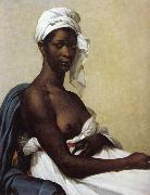 Marie-Guillemine Benoist Portrait of a black woman oil painting