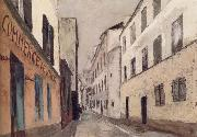 Maurice Utrillo Rue Saint-Rustique a Montmarter oil painting