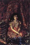 Young Girl against a Persian Carpet