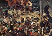 NEEFFS, Pieter the Elder The Battle Between Carnival and Lent oil painting