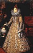 POURBUS, Frans the Younger Portrait of Isabella Clara Eugenia of Austria with her Dwarf oil painting reproduction