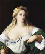 Portrait of a Young bride as Flora