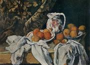 Paul Cezanne Still life with curtain