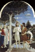 Piero della Francesca THe Baptism of Christ oil painting reproduction