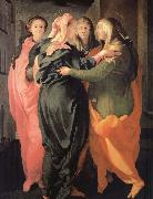 Pontormo, Jacopo The Visitacion oil painting reproduction