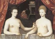 Gabrielle d-Estree and the Duchesse de Villars